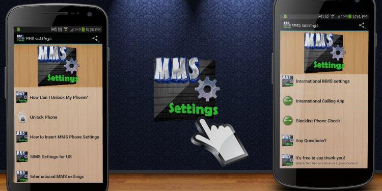 MMS settings - Data Help